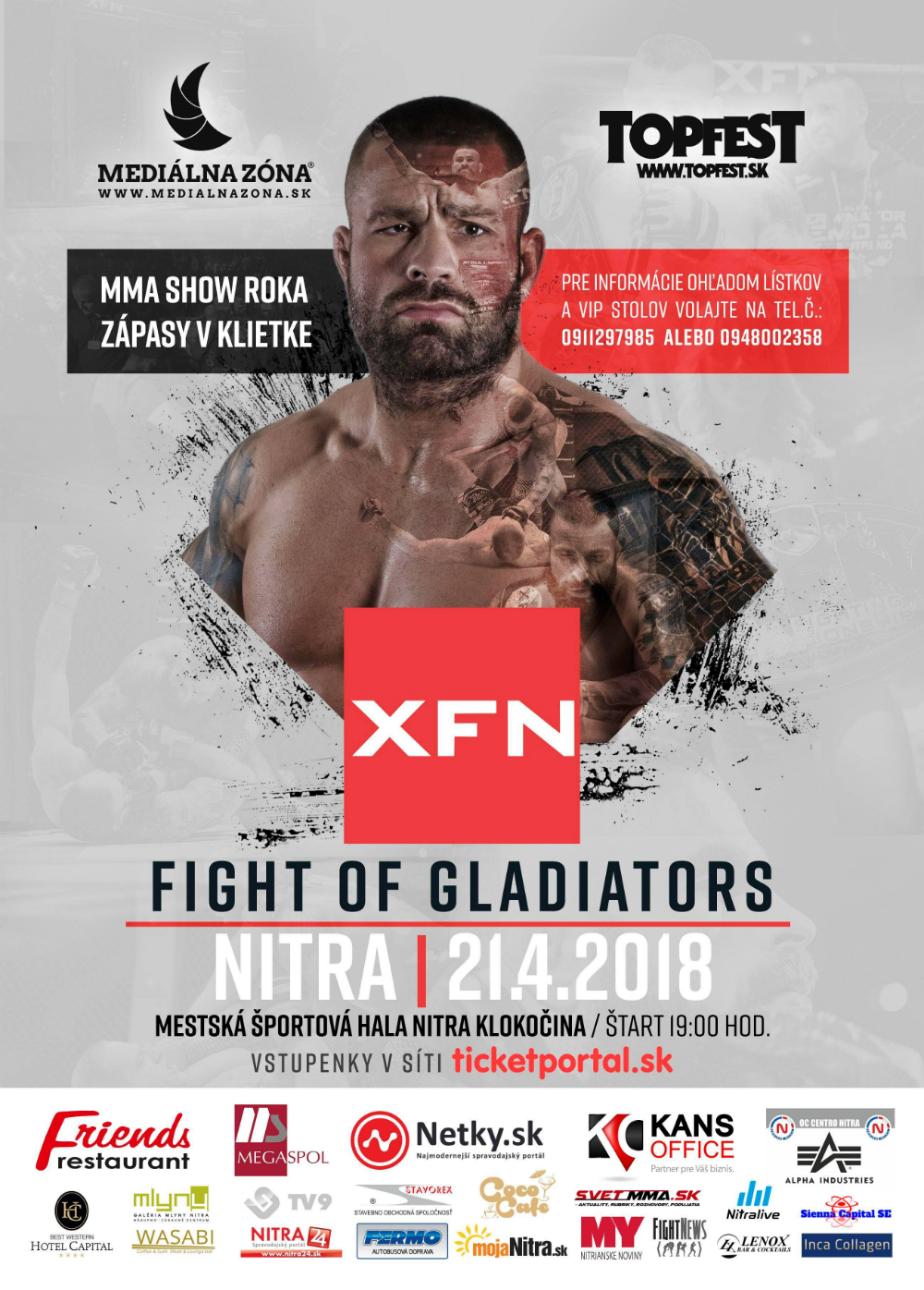 Fight of gladiatiors 2018 Nitra