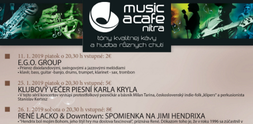Mesačný program Music a café